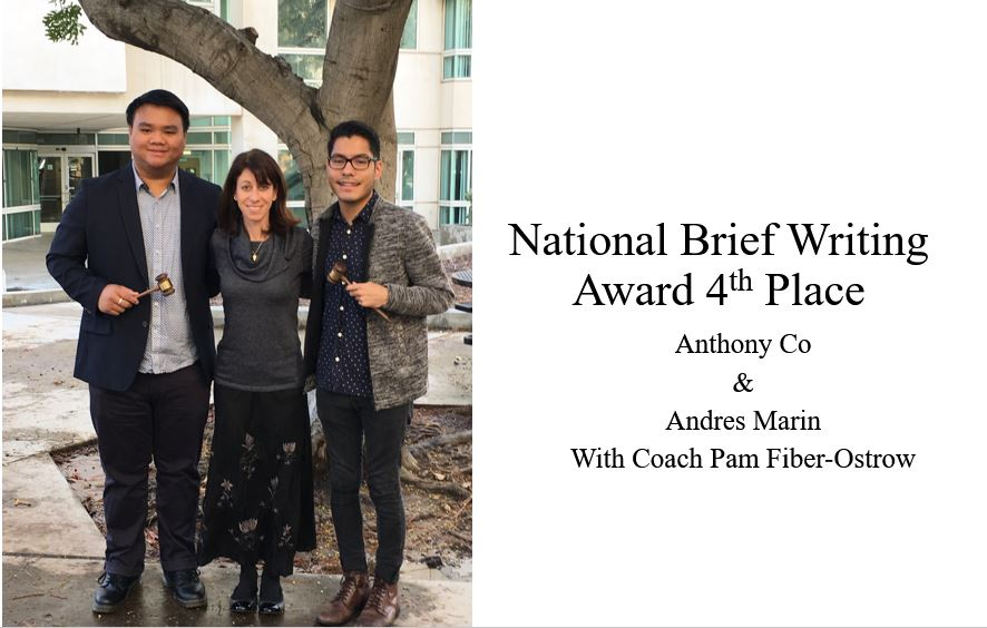 National Brief Writing Award 4th Place